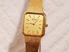 Vintage Seiko Gold Tone Bracelet Thin Watch