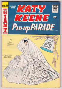 Katy Keene Pin-Up Parade #11 Very Good Plus 4.5 Archie Giant Series 1960