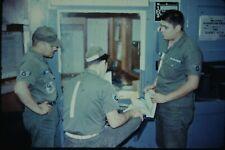 Org Photo Slide Military Soldier 1960 Portugal Vietnam Base Camp AFB Office Men