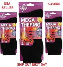 LOT OF 3-UNISEX-Heated-Socks-Thermal-MEGA-THERMO-2.3-TOG-SZ 9-11 FREE-SHIPPING