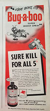 1945 Bug-a-boo Insecticide Sure Kill for All 5 Insects Fly Spray Sprayer Ad