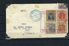 COLOMBIA, BOGOTA-CALI- Cubierta sobre to ARNOLD HEYMANN {famoso filatelista}1947
