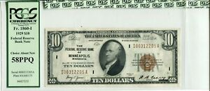 FR 1860-I  1929 $10 FEDERAL RESERVE BANK NOTE 58 PPQ CHOICE ABOUT NEW