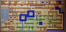 "Zelda ENORMOUS 50"" x 24"" Legend of Zelda World Map Nintendo Video Game RPG NES"