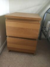 ikea bedroom furniture, headboard and 2 side cabinets drawers