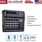 6 Channels Audio Mixers BT USB Mixing Console with Sound Card 48V Phantom h L1H0 photo