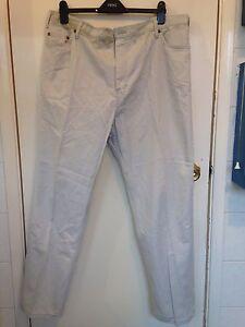 "Men M&S Cream Trousers Size 33-41"""