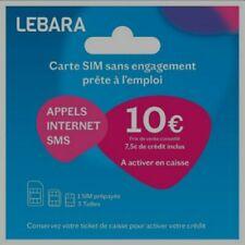 Cartes SIM Prépayée Lebara mobile 4g 7 de Credit inclus