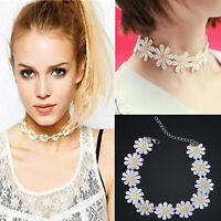 New Vintage Daisy Flower Choker Chain Bib Collar Statement Lace Necklace Pendant