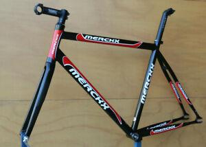 Vintage Eddy Merckx aluminium black red Track Pista frame frameset fixedgear 54c