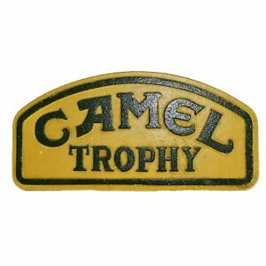 Small Camel Trophy Cast Iron Sign Plaque Wall Garage Petrol Workshop Challenge