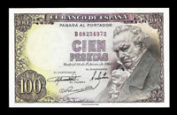 SPAIN 1946 100 PESETAS ☆ GOYA  P-131A  ( AU-58 ) BEAUTIFUL ☆ IMPRESIVE ☆