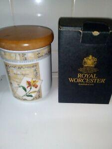 Royal Worcester Country Garden Medium size Storage Jar - Essentials Range BOXED