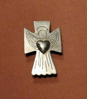 Carolyn Pollack Sterling Silver ANGEL Brooch Pin PENDANT SIGNED Relios
