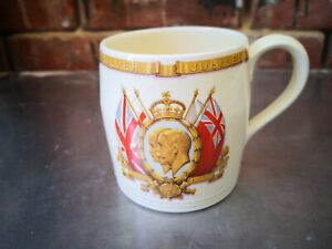 GEORGE V & QUEEN MARY BRITISH POTTERY MANUFACTURERS SILVER JUBILEE MUG