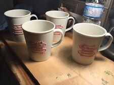 """Tim Hortons 4 Vintage Coffee Mugs Used- 4"""" See Pics"""