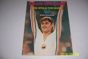 1976 Sports Illustrated MONTREAL OLYMPICS Nadia COMANECI No Label STOLE THE SHOW