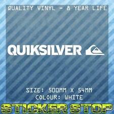 QUIKSILVER VINYL DECAL/STICKER (50cm, White)  WINDOW, CAR STICKER, SURFING, SURF
