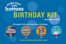 Badge-A-Minit - Birthday Themed Make-Your-Own Button Kit New! #TBK5
