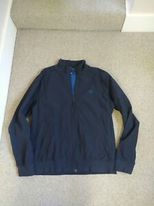 Fred Perry Jacket Size L Navy Blue Full Zip Bomber