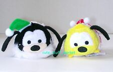 TSUM TSUM DISNEY STORE JAPAN CHRISTMAS HOLIDAY PLUTO & GOOFY PLUSH US Seller