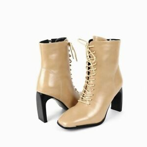 3 Colors Women's Work OL Square Toe Block Heel Ankle Boots Outdoor Shoes Pumps L