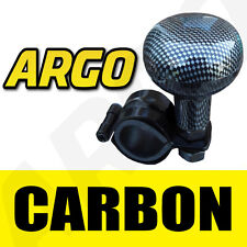 Carbon Fibre Black Steering Wheel Knob Aid Assister Car Van Handle Hand Turning