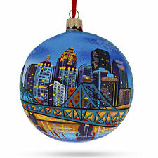 Louisville, Kentucky Glass Christmas Ornament 4 Inches