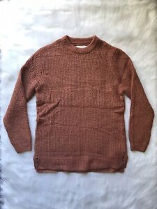 Zara Boys Collection Theknitwear Orange Rust Pullover Knit Sweater Sz 13-14