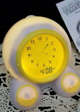 Teach Me Time Talking Alarm Clock Play Monster Yellow Band Wake / Night Light