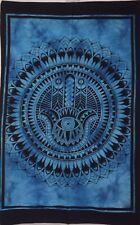 Hamsa Wall Hanging Cotton Beautiful Design Cotton Indian Tapestry Poster Hippie