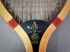 Nice Vintage 1900s Wright & Ditson Tennis Racquet -Champion Modl- Laminate Wedge