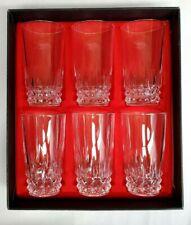 Cristal D'Arques-Durand TUILLERIES VILLANDRY Crystal HIGHBALL Glasses Set of 6