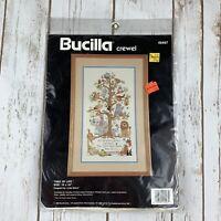 Vintage 1990 Bucilla Crewel Kit Tree of Life #40497 Linda Gillum Animals