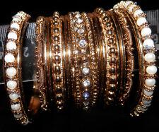 USED kids' rich looking bangles bracelets golden tone ornate x 15 diameter 2
