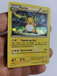Raichu - 49/162 Rare XY BREAKthrough Pokemon Card HP marks condition