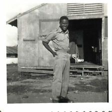 Vintage African American Photo Young Soldier Military Man Old Black Americana