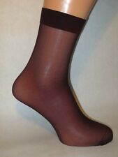 Smooth Sheer Nylon Socks. Lower/Mid Calf Length. BURGUNDY.