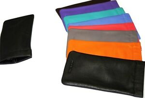 Mala Leather Snaptop reading glasses case various colours genuine leather sun sp