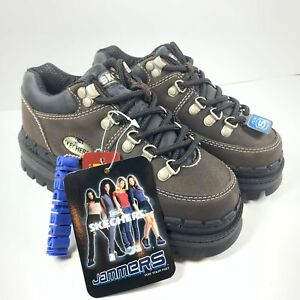 NWT Never Worn 90's Vintage Skechers Jammers Platform Chunky Shoes Brown Sz 5.5