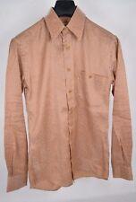 Missoni Sport Dress Shirt Orange Metallic Multi Stripe LS Button 48 Mens Italy