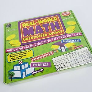 Real World Math Game Unexpected Events Skill Building 2-6 Players Ages 8+