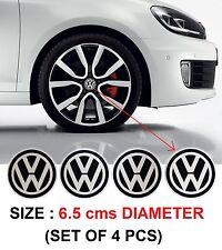 260- ALUM STICKON ALLOY WHEEL CENTRE CAPS VW VOLKSWAGEN POLO VENTO JETTA 65 mm