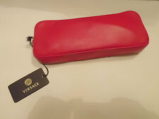Authentic  Versace Pochette Alice in Wonderland  Red  Leather