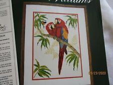 New listing Crewel embroidery Kit-Amazon Natives- Parrots, Rainforest, Linen, Wool