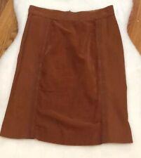 Women's EUC ETRO Brown Cotton Runway Pencil Skirt 44 10 Mixed Media