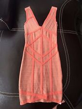 Stretta Bodycon Bandage Pink Red Dress Sz S