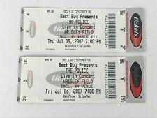 2 The Police Concert Ticket Stubs July 5 & 6, 2007 Chicago