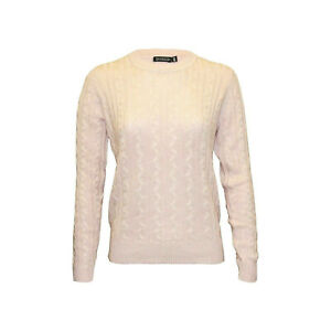 Womens Ex H&m Full Body Cable Knitted High Quality Spring Jumper