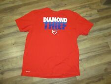 Nike Dri Fit Men's Size Xl Orange-Red Blue Diamond Thief T-Shirt